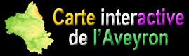 Carte interactive de l'Aveyron - Midi-pyrénées - France