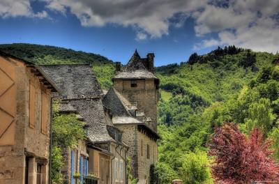 Chateau du moyen age à Entraygues sur Truyère