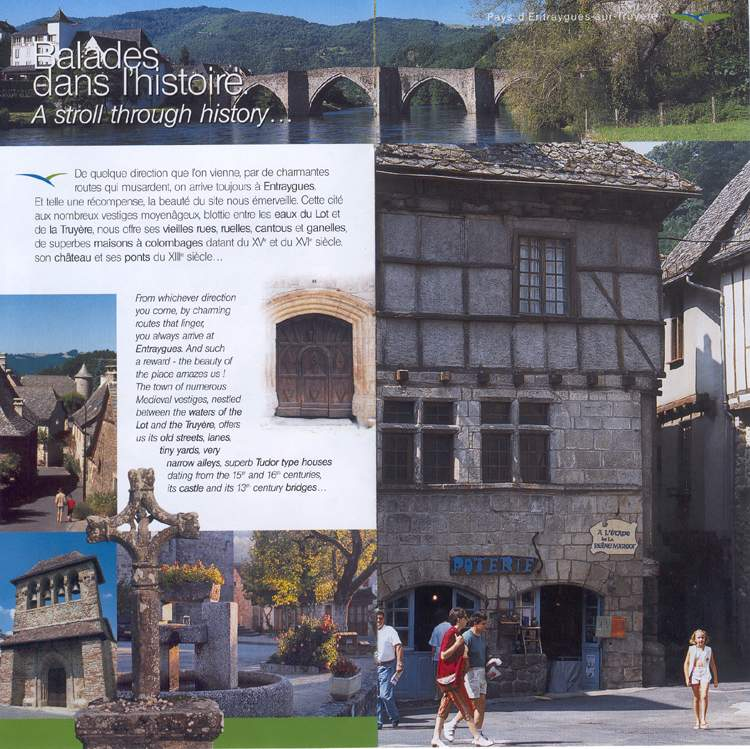 Entraygues, the town of numerous Medieval vestiges - France