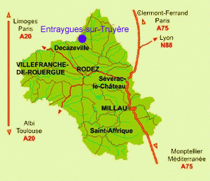 Entraygues-sur-Truyère in the heart of the north Aveyron