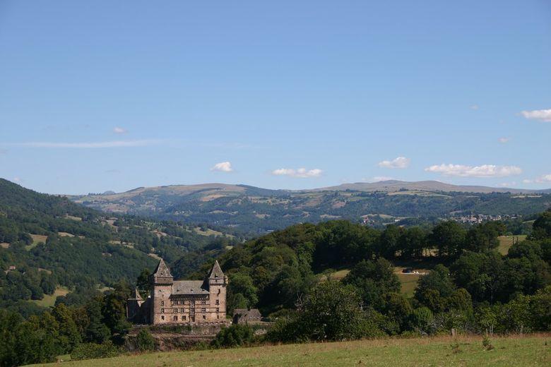 Construit sur un promontaire surplombant la vall�e du Goul, le ch�teau datant du XI� si�cle joua un r�le important lors de la Guerre de Cent ans et des Guerres de Religion.