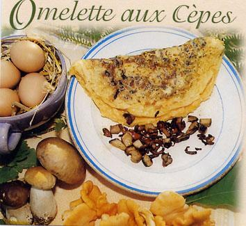 Recette de l'omelette aux cpes - Aveyron