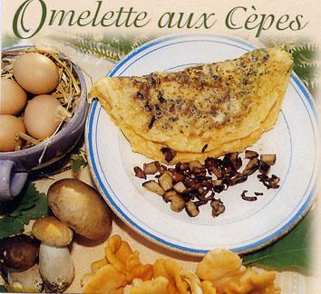 Recette de l'omelette aux cèpes - Aveyron