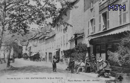 Quai Bastide 1915 - Entraygues - Aveyron