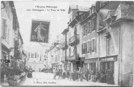Tour de ville 1925 - Entraygues - Aveyron