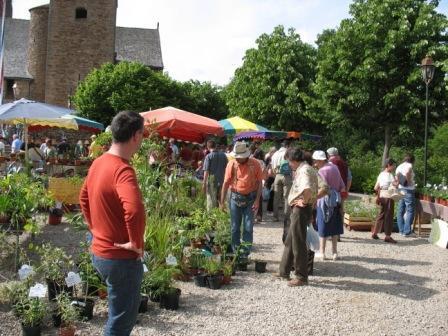 La Fête des plantes dans le village de Calmont de Plancatge dans l'Aveyron
