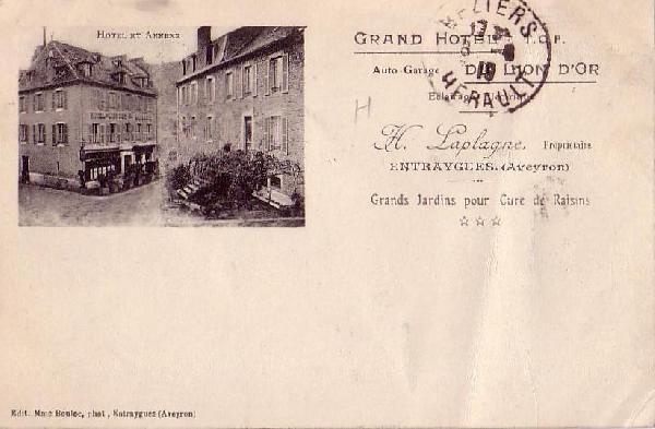 Hôtel du lion d'or: hôtel et annexe<br>Grands jardins pour cures de raisins