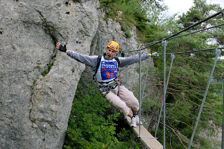 Challeng' Aveyron Aventure escalade via-ferrata