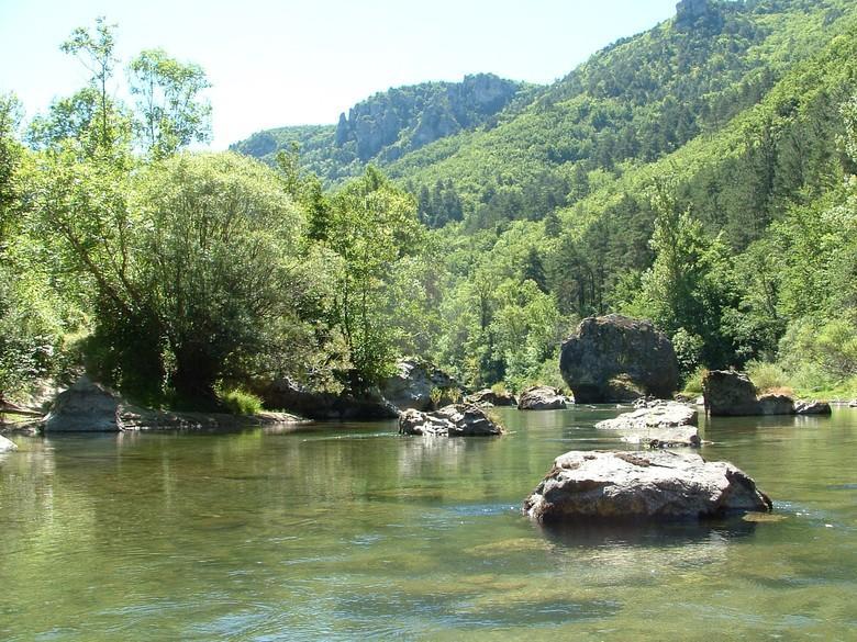 Rivière la Dourbie dans l'Aveyron