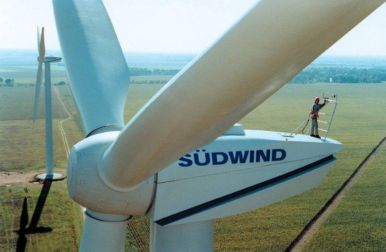 Parc éolien de Salles-Curan dans l'Aveyron