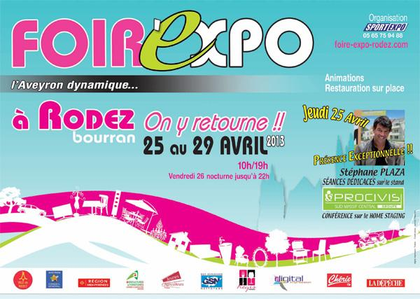 La foire exposition de Rodez revient  Bourran du 25 au 29 avril 2013