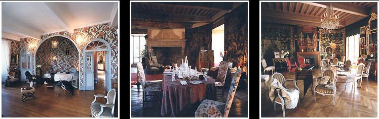 La chambre du peintre Henri de Toulouse-Lautrec - Vue de la grande salle du château du Bosc - Le grand salon du château du Bosc