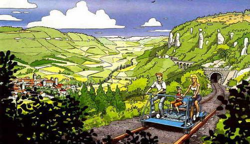 V�lo rail du Larzac et train touristique du Larzac