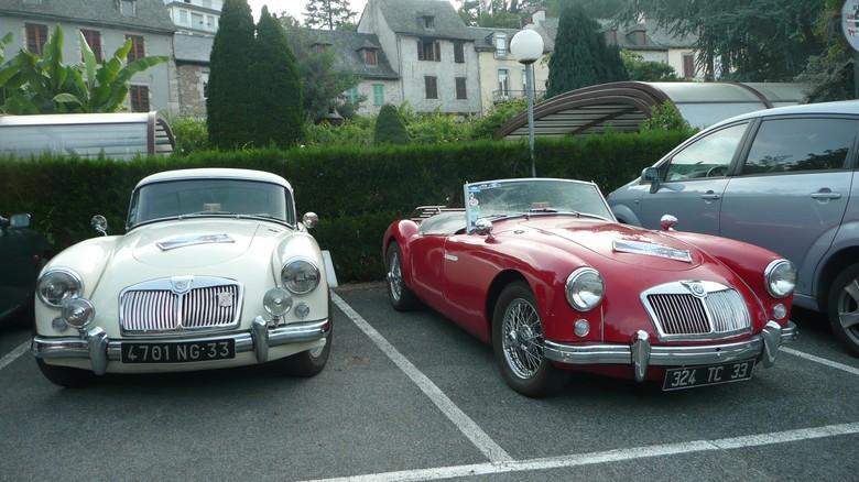 MG Club de France à Entraygues-sur-Truyère dans l'Aveyron