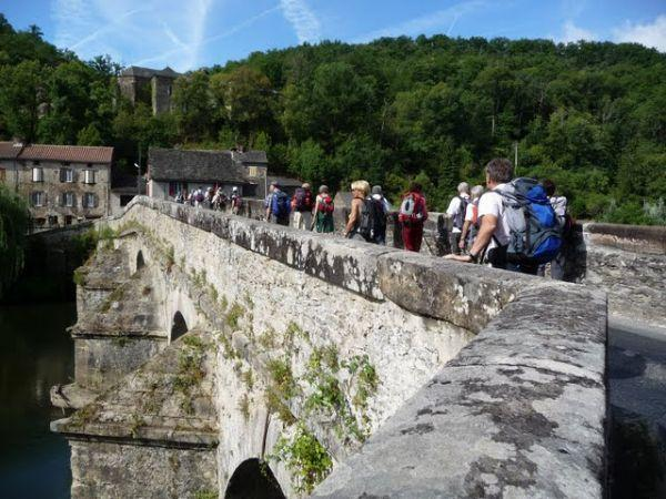 Le Pont de Cirou dans la vallée du Viaur