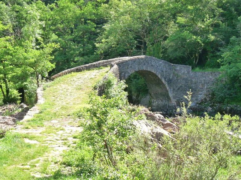 Le pont gallo-romain du Cayla qui enjambe l'Aveyron reliait Rodez à Cahors via Villefranche-de-Rouergue