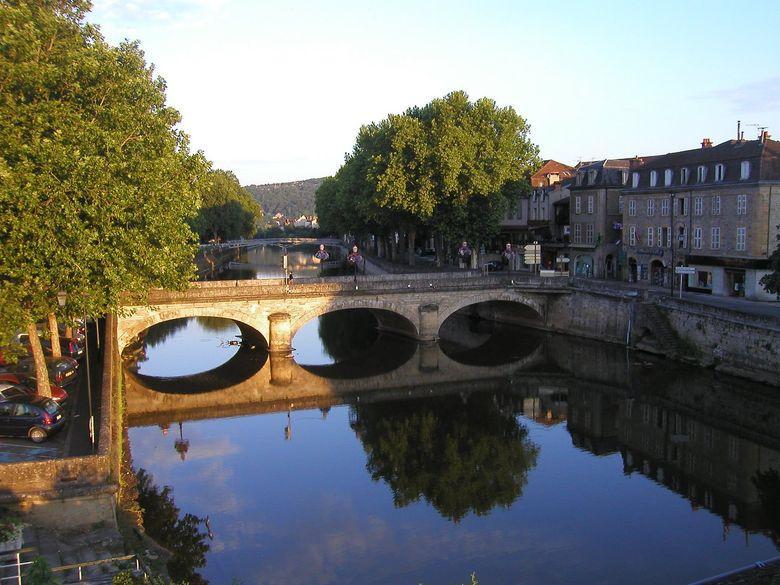 Les ponts sur le Célé à Figeac - Lot