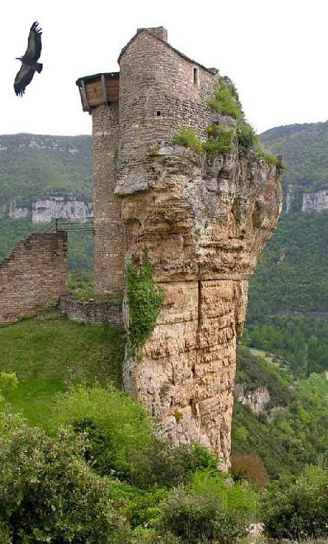 Le château de Peyrelade, bâti sur un promontoire rocheux sur la commune de Rivière sur Tarn, fut l'une des plus importantes forteresses du Rouergue.