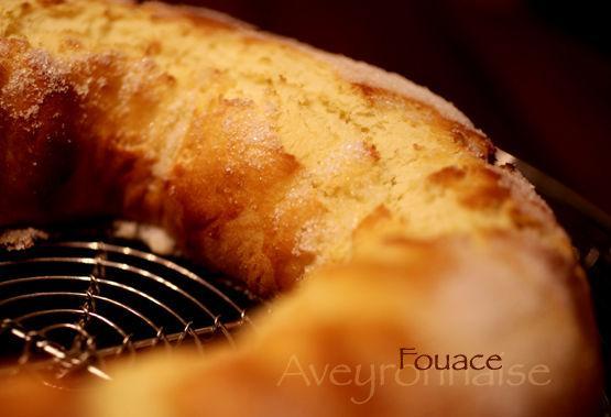 La fouace, ou fouasse est une appellation pour une pâtisserie du Rouergue.