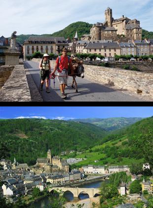 Vous quitterez Estaing et son château dominant pour rejoindre le plateau de Golinhac qui offre des paysages de moyenne montagne.