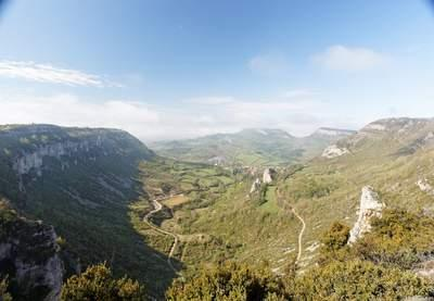 Le cirque de Tournemire offre un des plus beaux paysages de l�Aveyron.