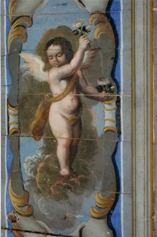 L'appartement des évêques, avec un plafond peint du 17ème siècle représentant les