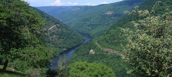 Le circuit du Saut du Chien offre un magnifique panorama sur le château de Valon et les Gorges de la Truyère.