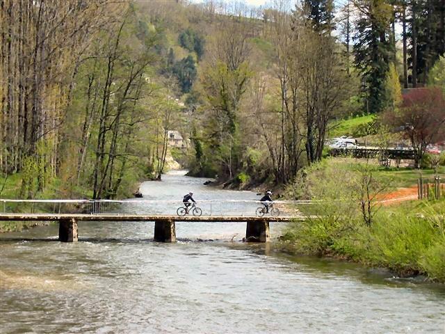 VTT à Entraygues sur Truyère - Aveyron