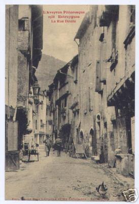 Entraygues - Rue droite en 1920 - Aveyron - France