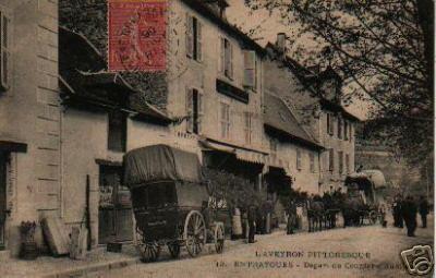 Entraygues - Départ du courrier d'Aurillac - Aveyron - France