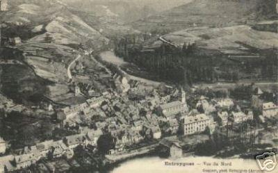 Entraygues - Vue du nord - 1924 - Aveyron - France
