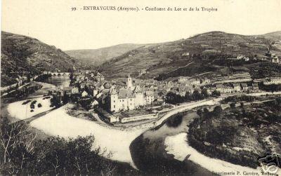 Entraygues - Le confluent du Lot et de la Truyère - Aveyron - France
