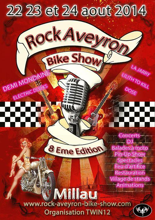Rock Aveyron Bike Show - Un cocktail de moto, de musique et de spectacle au pays de la bon chair !