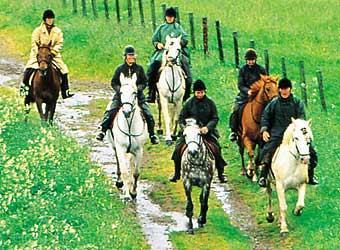 Equitation à ginolhac dans l'aveyron