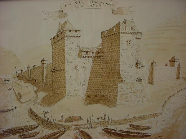 Entraygues fortifié en 1588 - Bernard GRATIO