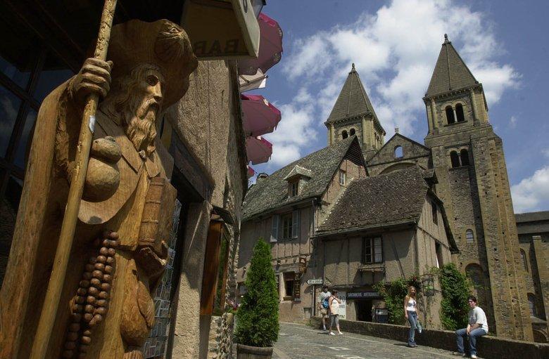 Village de Conques - Patrimoine mondial de l'Unesco - Aveyron - France