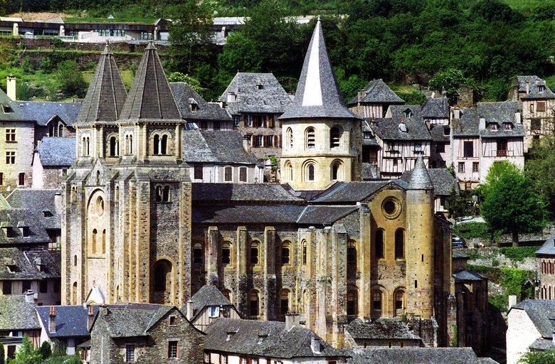 Saint Foy abbey-church in Conques, France