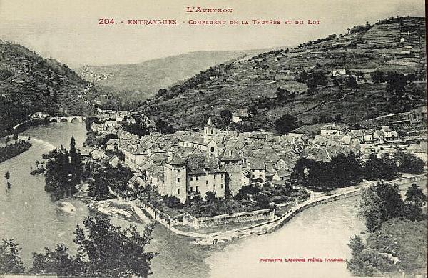 Le confluent du Lot et de la Truyère - Aveyron - France