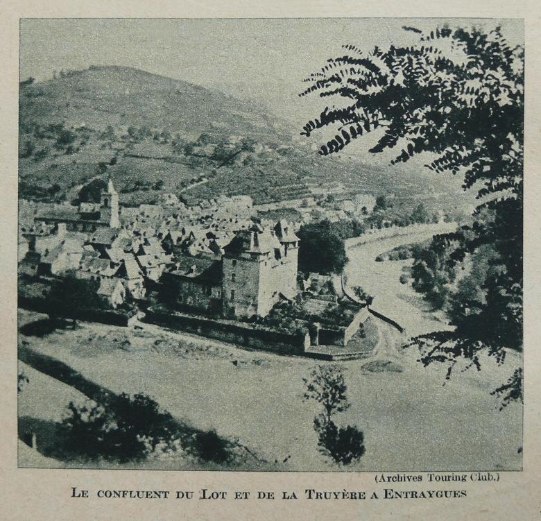 Le confluent du Lot et de la Truyère à Entraygues-sur-Truyère - Aveyron