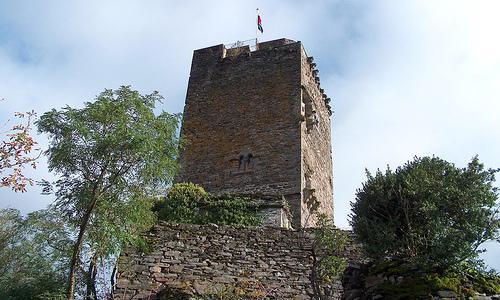 Le château, construit en moellons bruts, sauf le donjon, comprend une avant-cour entièrement fermée par les bâtiments d'habitation.