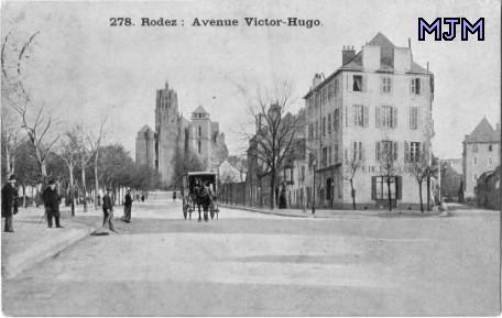 Photo ancienne de Rodez - Bd Victor Hugo - Aveyron