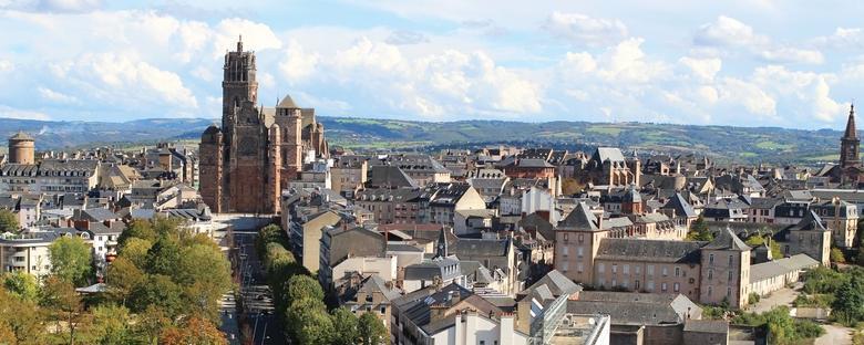 La Cathédrale de Rodez et son Clocher gothique flamboyant